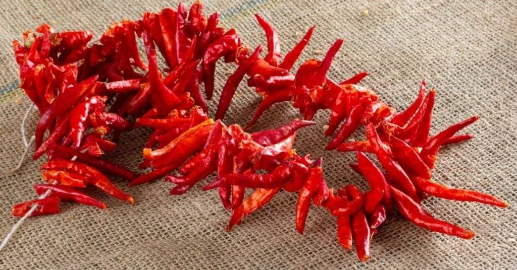 dry peppers